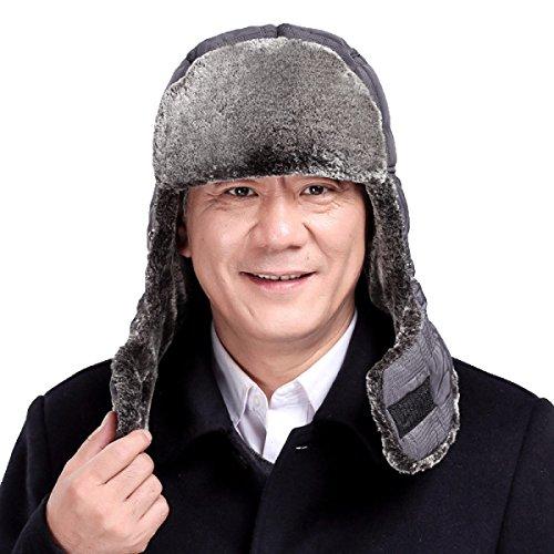 Sombreros Sombrero Oreja Sombrero Hombre Invierno Bombardero Para Caza negro Flap Máscara Unisex Trooper Invierno Viento Prueba Esquí Cálido Aleta De De De A 14OczTF