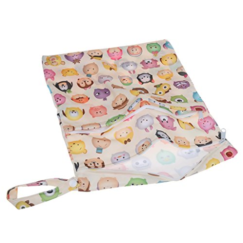 Bolsa De Pañales Del Bebé Bolsa Organizador Impermeable proof Húmeda Seca De Doble Cremallera - # 6