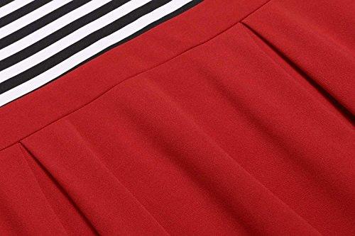 Robes Cindere Pour Les Femmes Cocktail Robes D'été Pour Les Juniors Longueur Du Genou Robes À Manches Longues Pour Les Juniors Robes Rouges