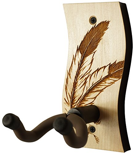 Beautiful Walnut (Guitar Hanger - Laser Cut & Engraved Guitar Hanger - Great for All Guitars! Solid Maple or Walnut Wood and a Beautiful Engraved Design. Made in USA! (SW - Wisdom - Maple))
