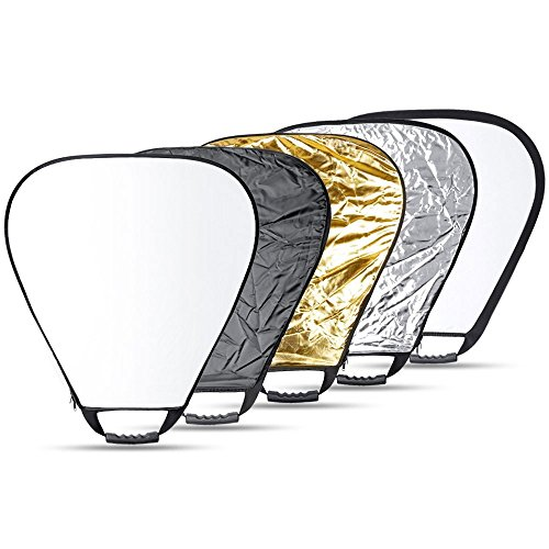 Reflective Panel (Andoer 30''Inch/ 76cm Portable Triangle 5 in 1 Multi Camera Lighting Reflector Kit with Grip and Carrying Case for Photography(30