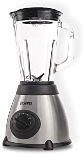 JUSANTE Blenders for Kitchen Countertop Blender Glass with 48oz 1000w for Smoothies,with 6-blade Removable Stainless Steel Blade Safety Cleaning Function Kitchen Auxiliary Mixer Ice and Frozen Fruit