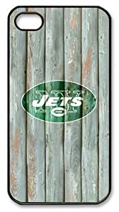 LZHCASE Personalized Protective Case for iPhone 4/4S - NFL New York Jets in Wood Background