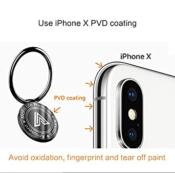 Kickstand 2 Pieces Phone Ring Holder Phone Stand Holder Universal Finger Grip Car Mount Phone Holder for iPhone X and All Smartphones Amusent MPP-800-000067