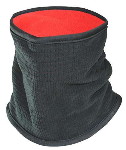 SUB Sports Thermal Neck Warmer / Winter Fleece Snood-BLACK (Red Inner) -OS (Fleece Snood)