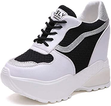 ASO-SLING Womens Wedges Sneakers Height Increasing Autumn Breathable Waterproof Platform Casual Fashion Shoes