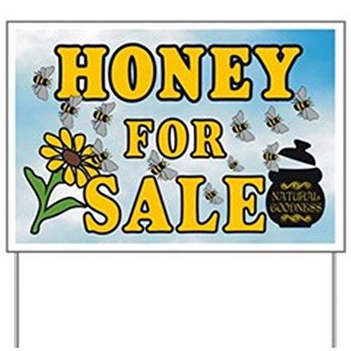CafePress - Honey Sale Yard Sign - Yard Sign, Vinyl Lawn Sign, Political Election Sign