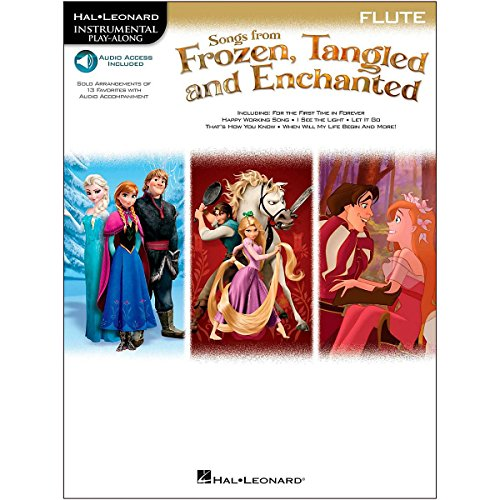 Hal Leonard Songs From Frozen, Tangled And Enchanted For Flute - Instrumental Play-Along Book/Online Audio (Disney Flute Solo Book)