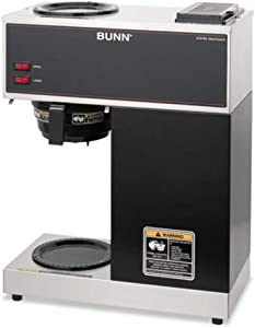 Bunn-O-Matic Pour-O-Matic Model VPR Coffee Brewer, Stainless Steel/Black