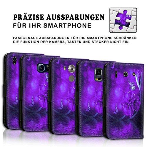 Wallet Book Style Flip Handy Tasche Case Schutz Hülle Schale Motiv Etui für Apple iPhone 5 / 5S - Design Flip MVD435