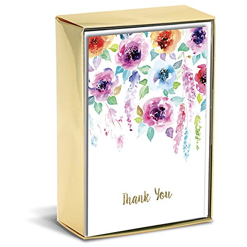 Graphique Hanging Flowers Thank You Note Cards