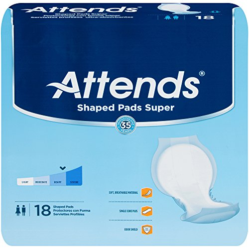 (Attends Shaped Pads, Attends Shaped Pads Super -Sp, (1 CASE, 72 EACH) )