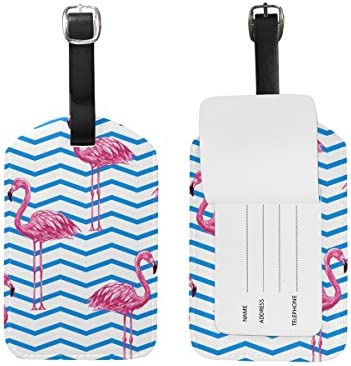 Blue White Chevron Luggage Tags Bag Travel Labels For Baggage Suitcase