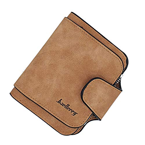 Laynos Wallet for Women Leather Clutch Purse Small Ladies Credit Card Holder Organizer Travel Purse Brown WL8017