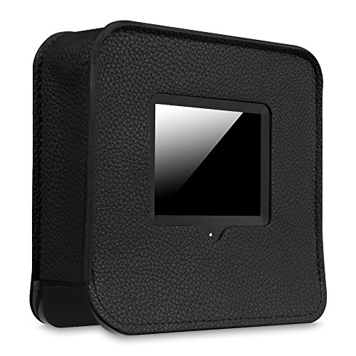 nd 2015 / Securifi Almond Case - Premium PU Leather Dust Cover with Soft Lining for Securifi Almond Touchscreen Wireless Router / Range Extender, Black (Cell Phone Antenna Booster Review)