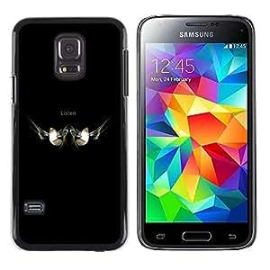 Caucho caso de Shell duro de la cubierta de accesorios de protección BY RAYDREAMMM - Samsung Galaxy S5 Mini, SM-G800 - ESCUCHAR