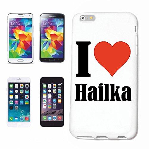 """Handyhülle iPhone 4 / 4S """"I Love Hailka"""" Hardcase Schutzhülle Handycover Smart Cover für Apple iPhone … in Weiß … Schlank und schön, das ist unser HardCase. Das Case wird mit einem Klick auf deinem Sm"""