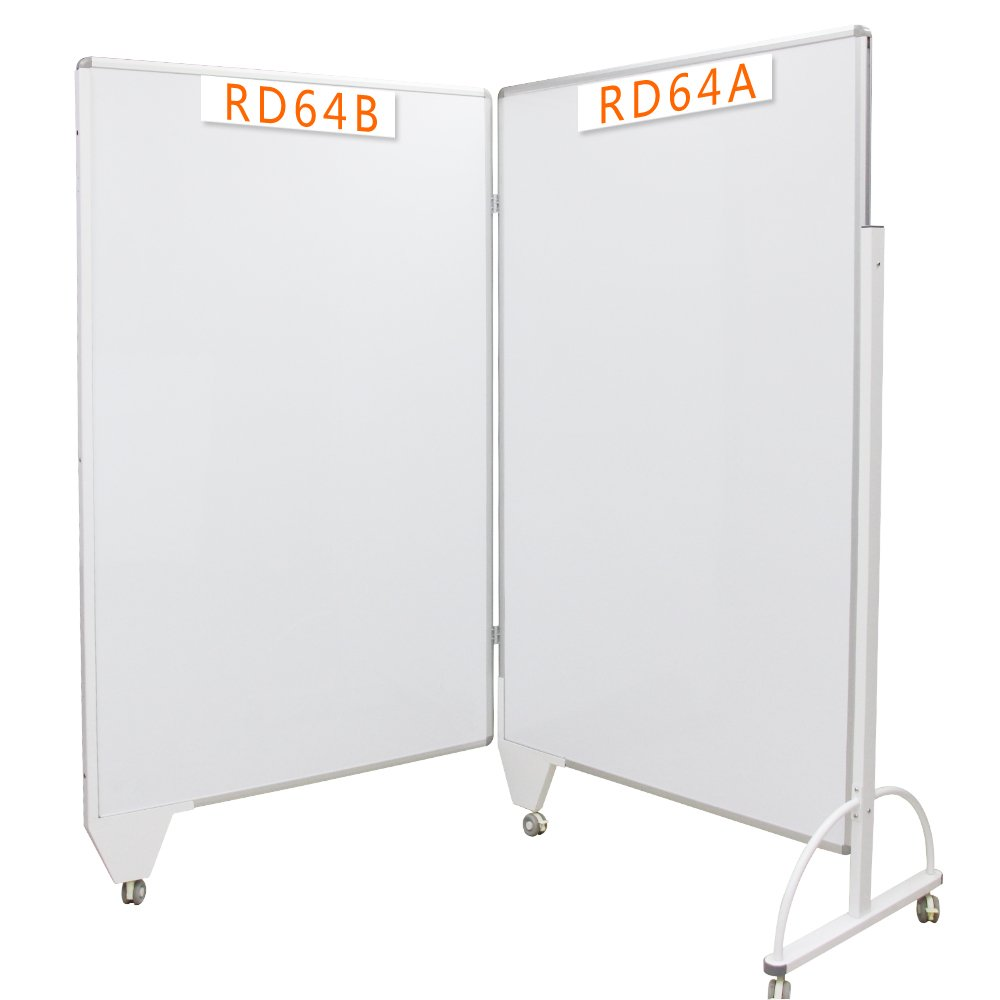 VIZ-PRO Room Divider Board/Office Partition,Double-sided Magnetic Mobile Whiteboard