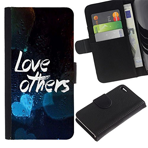 OMEGA Case / Apple Iphone 4 / 4S / LOVE OTHERS / Cuir PU Portefeuille Coverture Shell Armure Coque Coq Cas Etui Housse Case Cover Wallet Credit Card