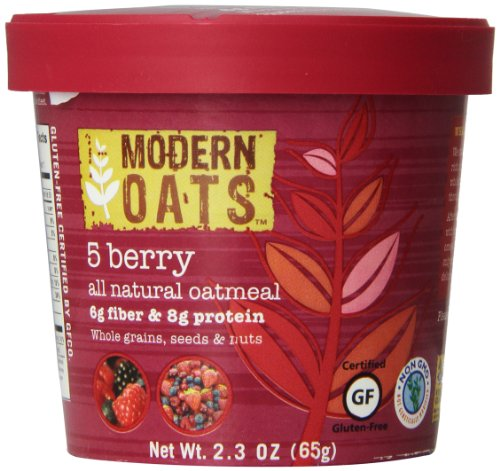 Modern Oats 5 Berry Oatmeal, 2.3 Ounce (Pack of 6) (Oats Rolled Steamed)