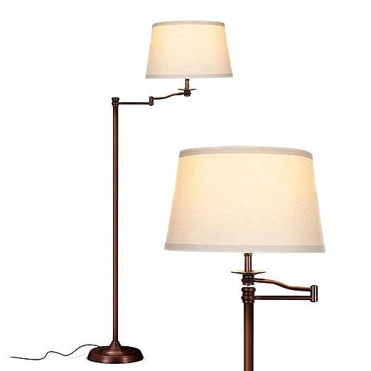 Lámparas de pie El columpio de la lámpara LED del brazo ...