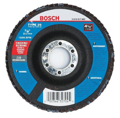 Bosch FD2945080 4-1/2 In. 7/8 In. Arbor Type 29 80 Grit Blending/Grinding Abrasive (Type 29 Flexible Grinding Wheel)