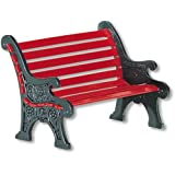 Department 56 Village Red Wrought Iron Park Bench