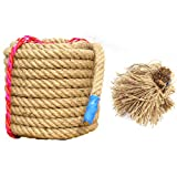 BAI-Fine Tug of War Rope Game Special Rope Adult/Child Tug-of-war Combat Fitness Rope Linen Rope Does Not Hurt The Hand (Color : F)