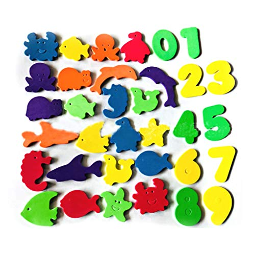 CMrtew 34Pcs Foam Letters Numbers Kids Educational Toys Bathroom Bath Tub Toys Stick On Foam Wall Baby Cognitive Cards Child Math Toy from CMrtew_Home decoration