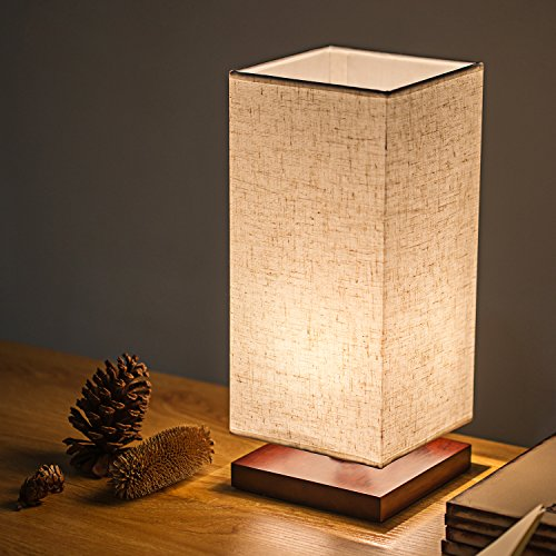Night Lights Wood Table Lamps - 6