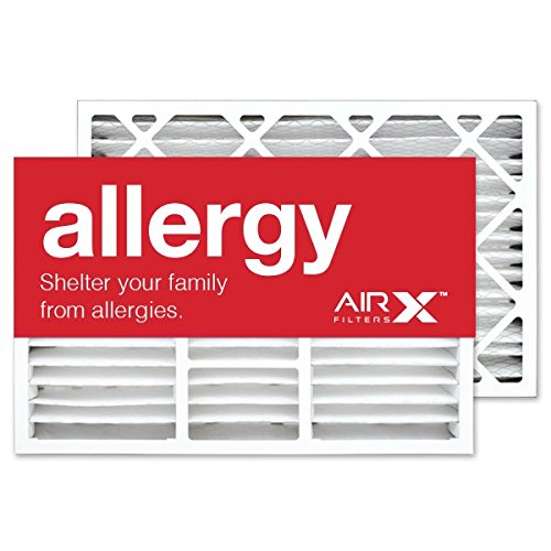 AIRx Filters Allergy 16x25x5 Air Filter MERV 11 Replacement for Lennox X0583 X6670 X6672 HCF160 to Fit Media Air Cleaner Cabinet Lennox Healthy Climate HCC16-28, 2-Pack
