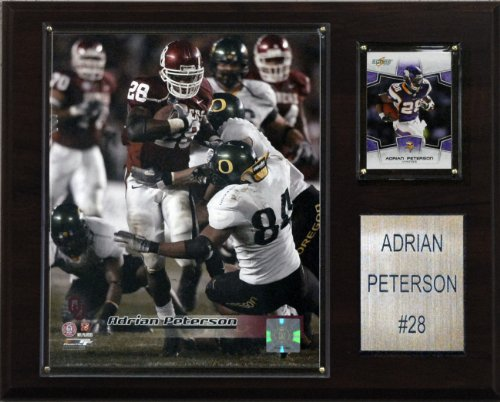 - NCAA Football Adrian Peterson Oklahoma Sooners Player Plaque