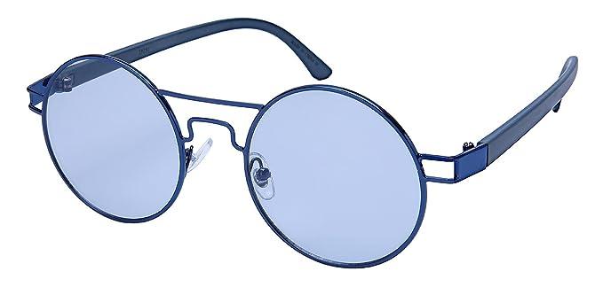 c78d1f4fb777 Edge I-Wear Round Brow Bar Sunglasses with Ocean Mirror Lens 25151-OCM-