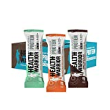 HEALTH WARRIOR Superfood Protein Bars, Sampler Pack, 3 Flavors, 1.76 Ounce, 12 Count