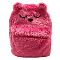 Daisy Fuentes Little Girls Backpack Kitten Design Faux Fur Material Shoulder Bag - Bright Pink