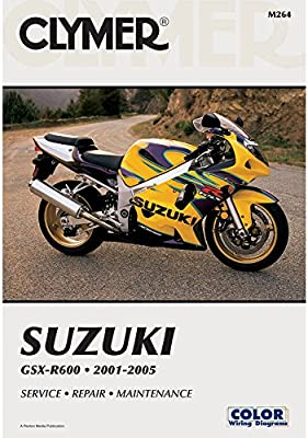 2001-2005 Suzuki GSXR 600 Clymer Repair Manual