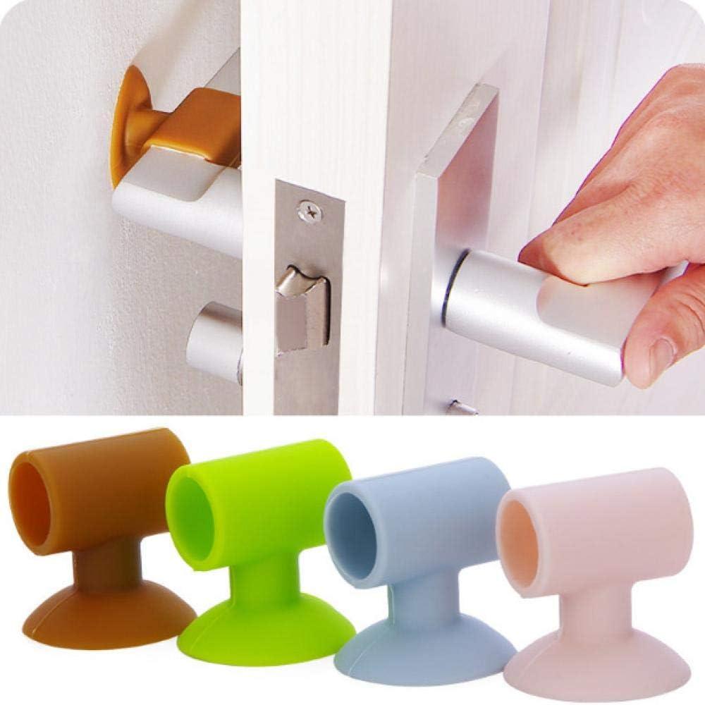 YISONG - Protector de pared para puerta silencioso, almohadilla de goma anticolaboración, 5 unidades