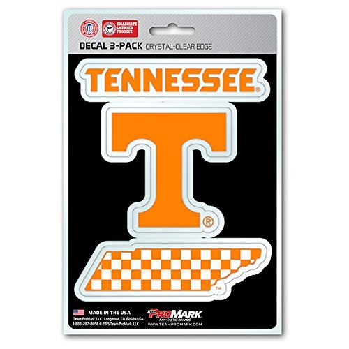 Tennessee Vols Stickers - NCAA Tennessee Volunteers Team Decal, 3-Pack