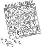 Nobo - Lot de 250 Set de Lettres et de Chiffres de 19mm