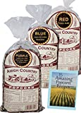 large amish popcorn - Amish Country Popcorn - 3 (1 lb. Bag Variety) Purple Popcorn, Blue Popcorn and Red Popcorn - with Recipe Guide