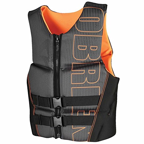 oldzon BioLite シリーズ メンズ フレックス V バック ネオプレン ライフ ベスト サイズ XL ブラック/オレンジ 電子書籍付き   B07FDV6MBX