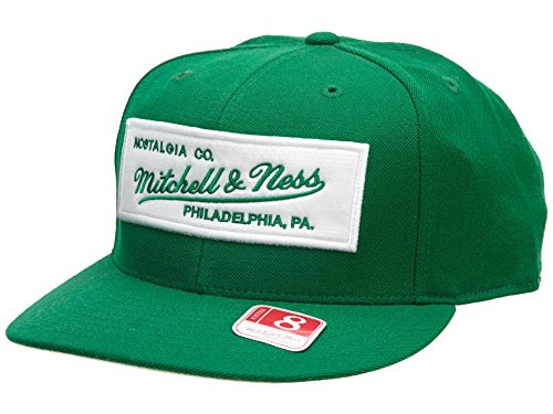 Mitchell&Ness Fitted Hat Mens Style: HAT075-BOTTLE GREEN Size: 7 1/2 ()