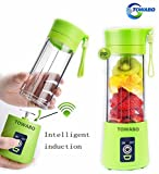 Product review for TOWABO USB Juicer Cup, Fruit Mixing Machine, Portable Personal Size Eletric Rechargeable Mixer, Blender, Water Bottle 380ml with USB Charger Cable Portable Juice Blender and Mixer