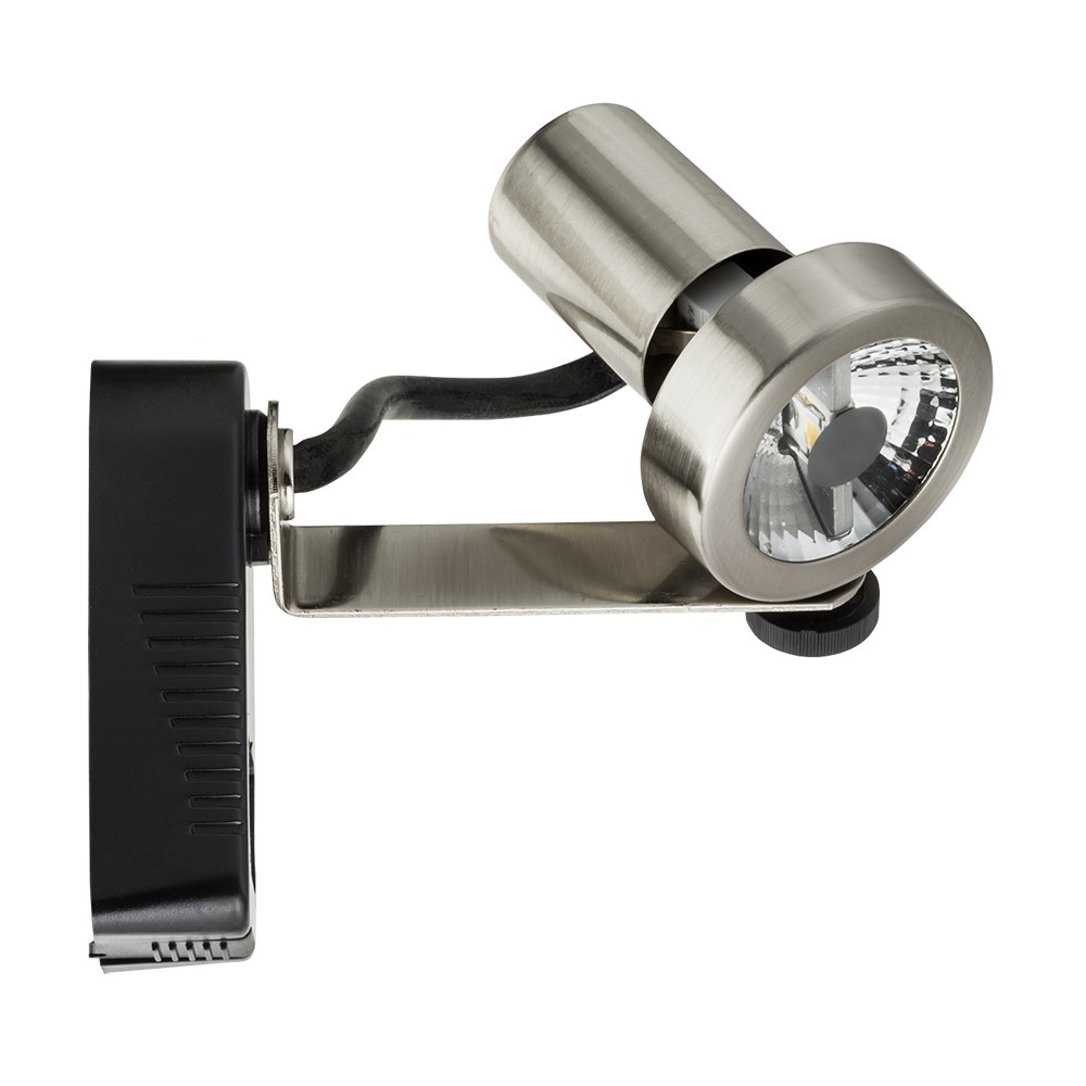 Lithonia Lighting LTH1000 MR16 BN M24 1-Light Rear Loading Gimbal Commercial Track Head, Steel, Mr16-Compatible Led, Brushed Nickel