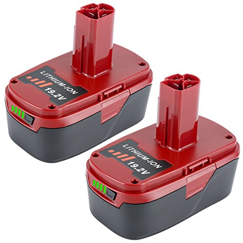 Lasica 19.2-Volt Battery 4000mAh Replacement for 19.2V Craftsman XCP C3 Lithium Battery 130211004 11375 11045 130279005 Cordless Power Tools (4000mAh 2 Pack) by Lasica