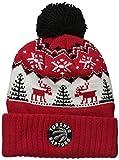 adidas Reindeer Cuffed Pom Knit,Toronto Raptors,Red,One Size