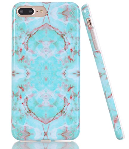 BAISRKE Shiny Rose Gold Marble Design Clear Bumper Matte TPU Soft Rubber Silicone Cover Phone Case Compatible with iPhone 7 Plus/iPhone 8 Plus [5.5 inch]