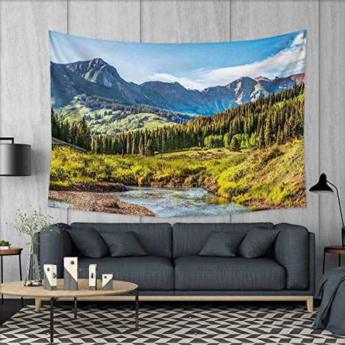 Anhuthree Landscape Tapestry Wall Hanging 3D Printing Mounta