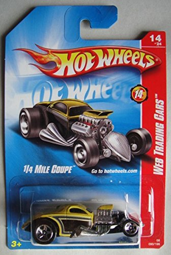 HOT WHEELS WEB TRADING CARS, YELLOW 1/4 MILE COUPE 90/196