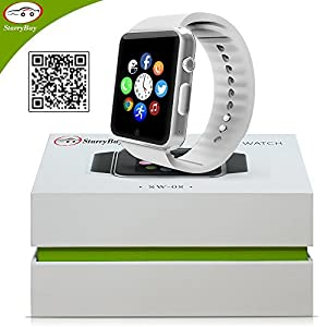 Starrybay SW0802 Smart Watch Phone with Bluetooth 4.0 - White
